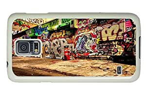 Hipster Samsung Galaxy S5 Case top Wall Grafitti Art PC White for Samsung S5