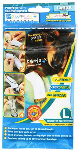 Pawflex Bandages Protective Covers for Pets (Pack of 3) Large