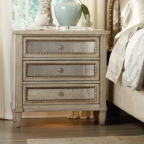 Hooker Furniture Sanctuary Three Drawer Nightstand in Pearl Essence