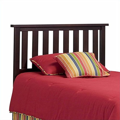 Merlot Panel Bed (Belmont Wooden Headboard Panel with Slatted Grill Design, Merlot Finish, Full / Queen)