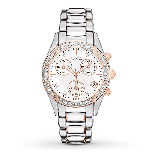 Bulova Women's 98R149XG Anabar Quartz Chronograph Rose Gold Stainless Steel Watch (Certified Refurbished) by Bulova