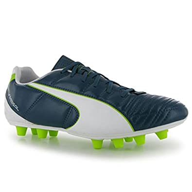 Mens Puma Football Football Boots Boots Universal Ii Fg Lime All Mens Blue White