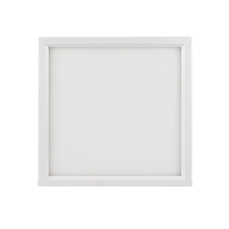 White Edge Lite Flush Mount Ceiling Light 1 Pack JULLISON LED SSM6IN3KWH 15W JULLISON 7 Inch LED Surface Mount Light Fixture 3000K Warm White CRI80 Damp Location ETL Certified Round 120VAC 900LM Driverless