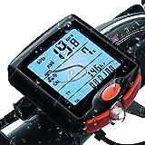 FitMaker Bike Computer, Waterproof Multifunction Cycling Speedometer with Backlit Display, 60g Wireless Multi Functional Bicycle Odometer (Black) (Black)