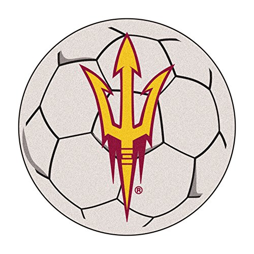 NCAA Arizona State University Sun Devils Soccer Ball Mat Round Area Rug ()