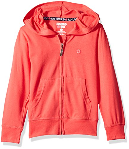 Limited Too Girls' Long Sleeve Zip Front Jersey Hoodie (More Styles Available)