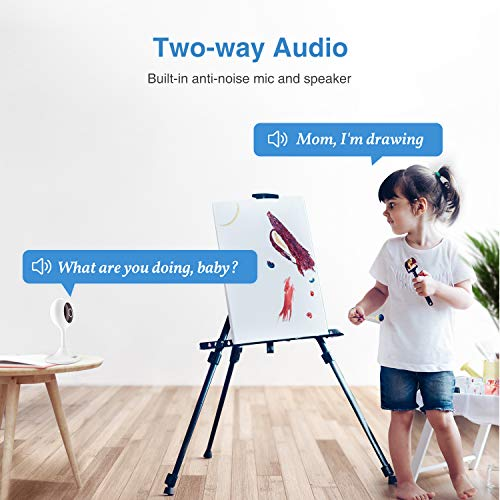 Goowls Security Camera Indoor, 2-Pack 1080p HD 2.4GHz WiFi Plug-in IP Camera for Home Security, Baby/Dog/Pet/Nanny Camera Monitor with Motion Detection Night Vision Two-Way Audio, Works with Alexa