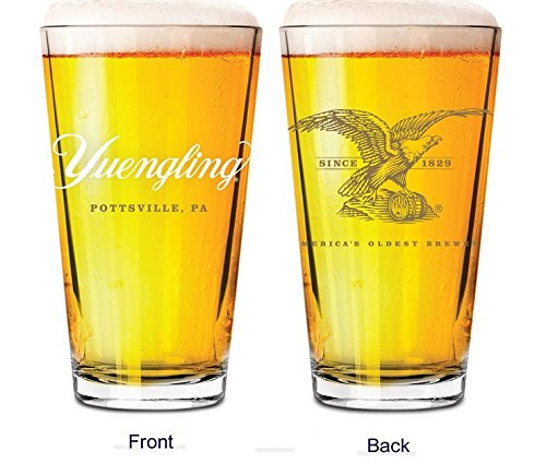 (Yuengling Brewery Eagle logo Since 1829 Beer Pint Glass)