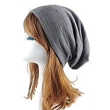 Aivtalk Unisex Ski Hat Wrinkle Knit Crochet Hat Slouch Beanie Cap Beret