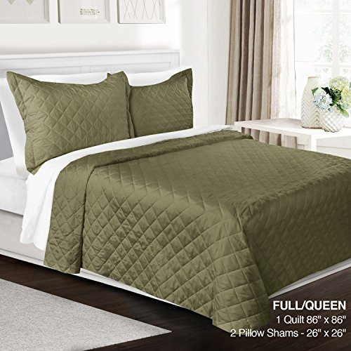 Cheap Clara Clark 3 Piece Quilt Set Full/Queen Size Luxury Bedspread Coverlet Soft All Season Microf...