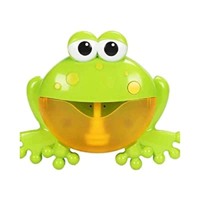 JiaJa Soap Bubble Machine Crab Music Foaming Machine Bathroom Swimming Toys for Kids Baby Bathing Bubble Enjoy Music Bubble Bath Foams,Green: Toys & Games