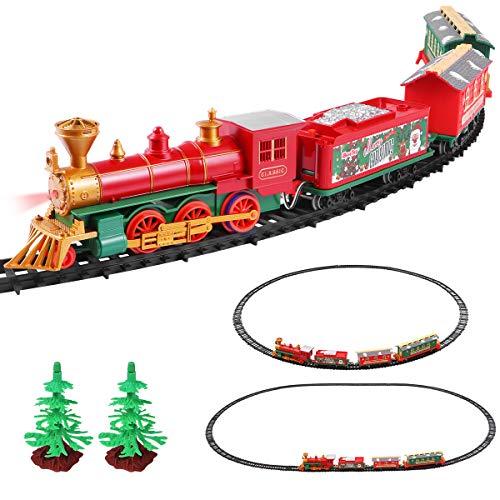 iBaseToy Christmas Train Set for Kids