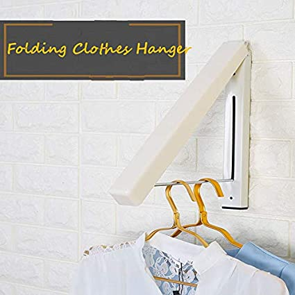 Amazon Com Folding Clothes Hanger Wall Mounted Retractable Clothes