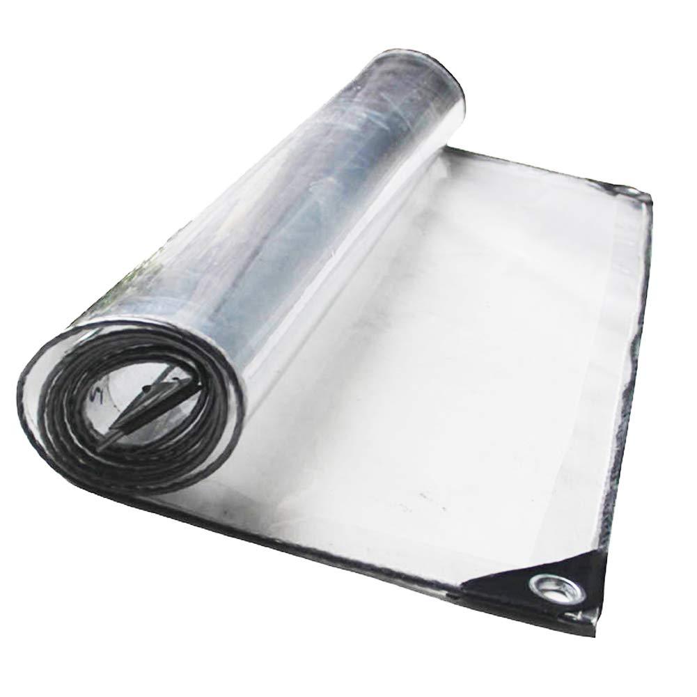 GUOWEI-pengbu ターポリン シェルター 不凍液 防風 防塵の 防水 アンチエイジング トランスペアレント アウトドア、 0.5mm (色 : クリア, サイズ さいず : 4X4m) 4X4m クリア B07JVC7FYW