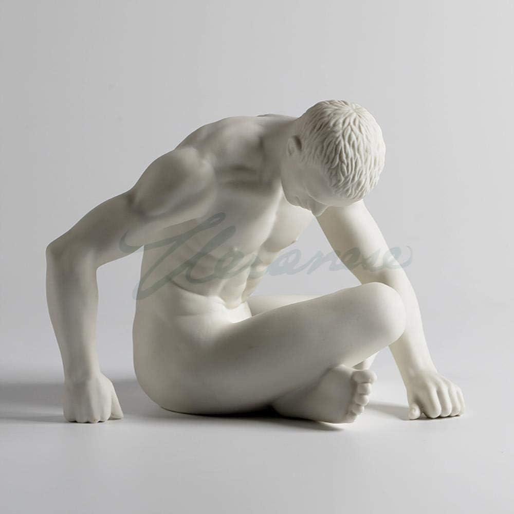 SYART Sculpture de Personnage en c/éramique Moderne Nue Ange Gay Art juv/énile Homme Statue penseur Abstrait Figurine Ornement Artisanat