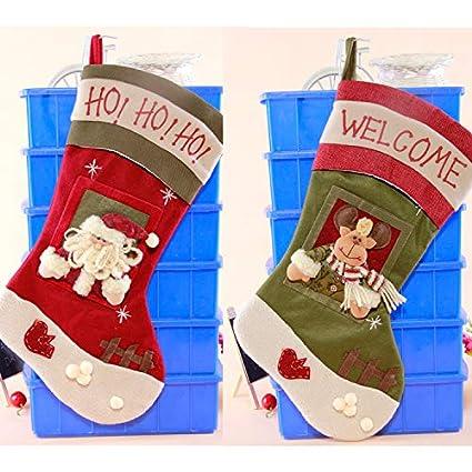 Amazon Com Chrismas Sock Home Christmas Stockings Oversized