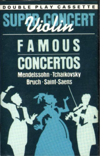 Ruggiero Ricci: Violin Super Concert - Famous Concertos By Mendelssohn, Tchaikovsky, Bruch & Saint-Saens / Jean Fournet Conducting The Netherlands Radio Philharmonic Orchestra; Pierino Gamba Conducting The London Symphony Orchestra [Double Play Cassette]