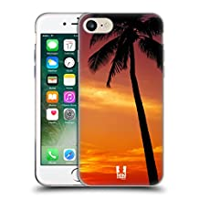 Head Case Designs Tropical Sunset Under The Red Sky Beautiful Beaches Soft Gel Case for Apple iPhone 5 / 5s / SE