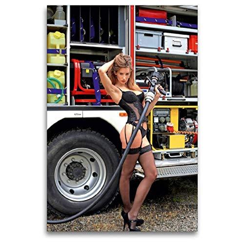 CALVENDO Thomas Siepmann Toile en Textile de qualité supérieure 80 cm x 120 cm - Motif du Calendrier des Pompiers - Photo érotique de Thomas Siepmann. Toile Murale Hommes
