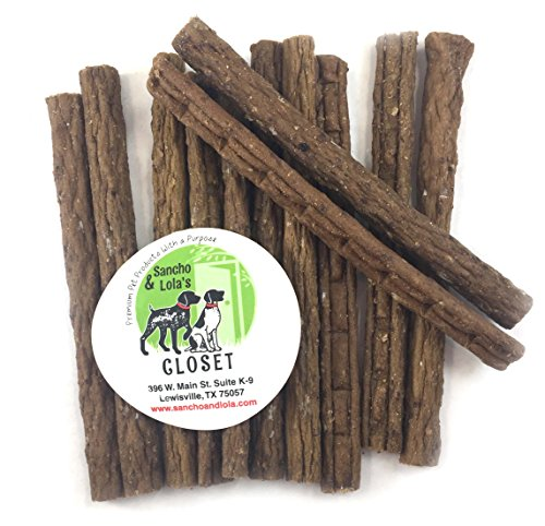 Savory Soft Elk Jerky Treats for Dogs with Allergies Limited Ingredients 8oz, Gluten-Free by Sancho & Lola's