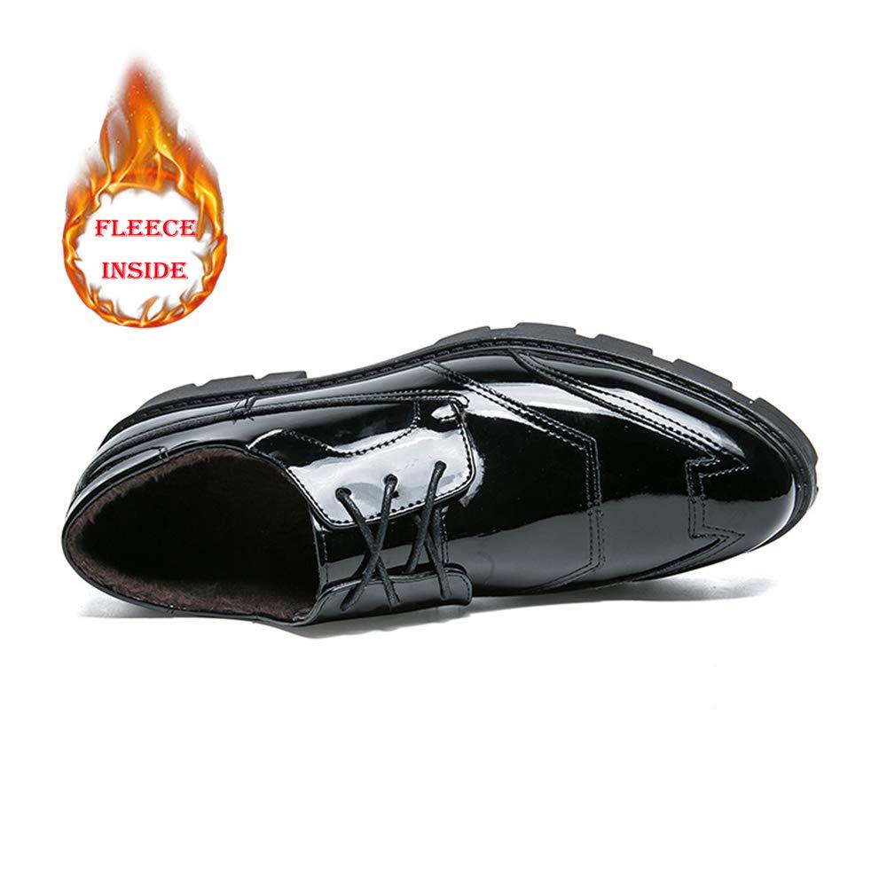 2018 Mens schuhe, Herren Herren Herren Business Casual Fashion Oxford Klassische Rutschfeste Wear Sohle Formale Patent Solid Farbe Schuhe (Farbe   Warm schwarz, Größe   41 EU) 3d3a75