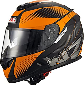 NZI Cascos Integrales, Indy Black Orange, Talla L