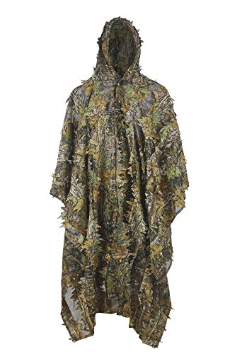 LOOGU Hunting Blinds, Outdoor Camouflage Ghillie Poncho Camo