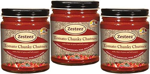 Tomato Chutney - Zesteez Premium Tomato Chunky Chutney, 9 oz Each, 3 Count