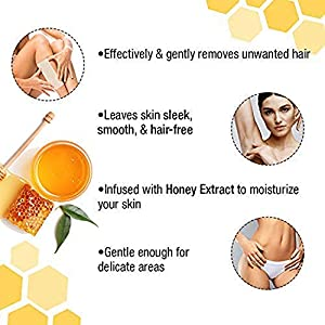Aspar Honey One Gold Shine Hot Wax 600gm For Hair Removal With 40pc Professional wax Strips for women