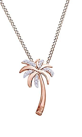 Amazon natural diamond accent palm tree pendant in 10k rose amazon natural diamond accent palm tree pendant in 10k rose gold jewelry mozeypictures Gallery
