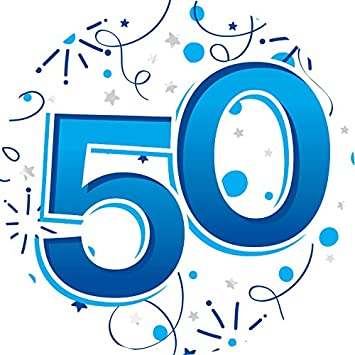 50th Birthday Badge Age Big 50 Jumbo Male Large Gifts By Card And Party Store Amazoncouk Toys Games