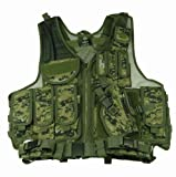 Paintball / Hunting / Airsoft Woodland Digital Camouflage Deluxe Tactical Vest