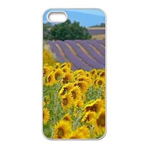 Customized Cover Case with Hard Shell Protection for Iphone 5,5S case with Sunflower lxa#421949 by icecream design