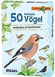 Moses Expedition Natur - 50 heimische Vögel | Bestimmungskarten im Set | Mit spannenden Quizfragen