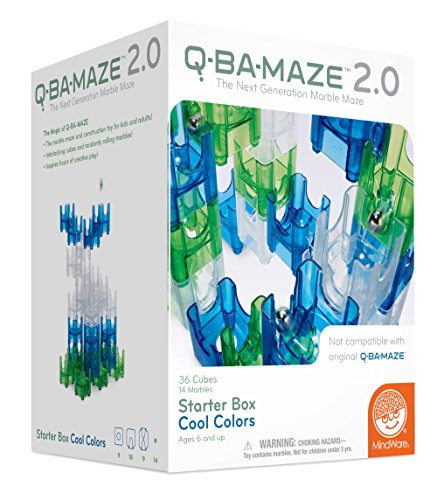 (MindWare Q-BA-MAZE 2.0 (Cool Colors 50 piece)