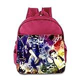 Toddler Kids Blue Exorcist School Backpack Style Baby Boys Girls School Bag Pink