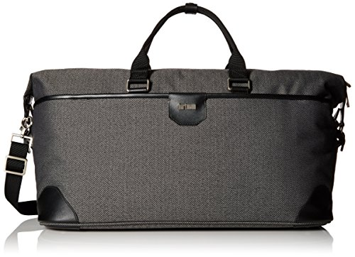 Hartmann Leather Duffel - Hartmann Herringbone Luxe Softside Weekend Duffel, Black
