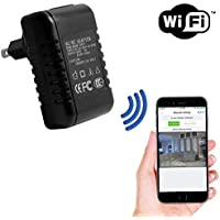 SpygearGadgets 1080P HD WiFi Internet Streaming AC Adapter Hidden Camera Nanny Cam | iPhone iOS and Android Compatible | Model SG-HC405w