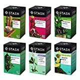Stash Tea Green Tea Six Flavor Assortment, 18-20 Count Tea Bags in...