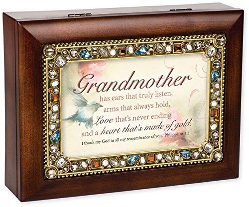 UPC 701698550296, Grandmother Heart of Gold Jeweled Decorative Music Musical Jewelry Box Plays Amazing Grace