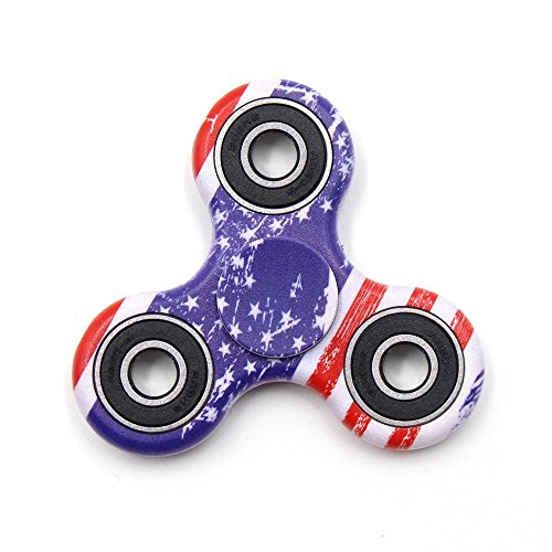 Yeahbeer Hand Fidget Spinner Toy Stress Reducer and Perfect For ADD, ADHD ,Finger Toy fidget work Ultra Fast Bearings (flag)