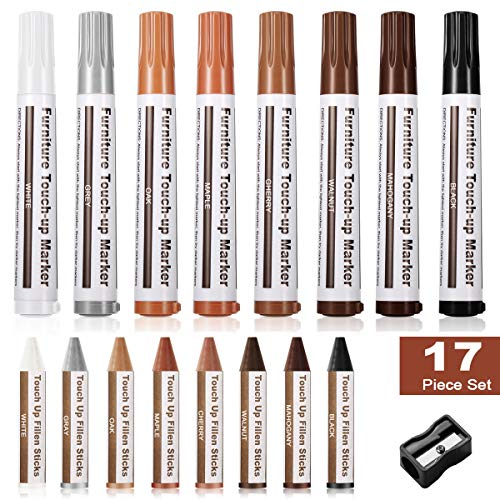 4 Filler Sticks 4 Touch Up Markers Weiman Wood Repair System Kit Floor and