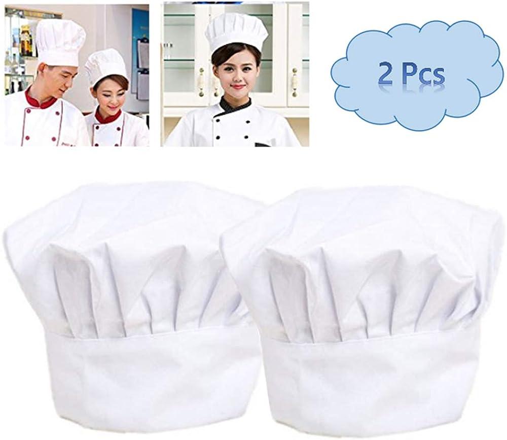 Bonarty Cappello Da Cuoco Da Cucina Cappello Da Cucina Elastico Regolabile Da Fornaio Cappello Da Cucina Nero Bianco