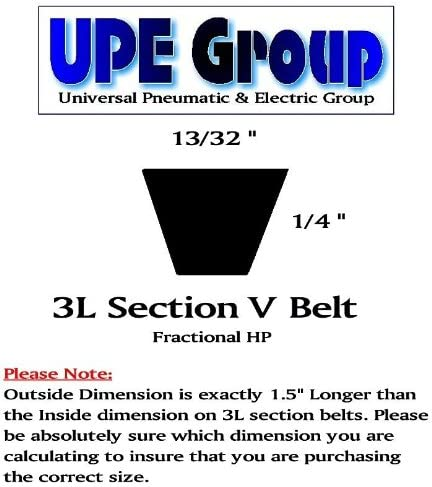 D/&D PowerDrive 3L150 NAPA Automotive Replacement Belt Rubber 1 Band