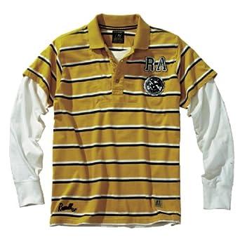 Russell Athletic Polo Manga Larga Hombres, L, Amarillo/Blanco/Azul ...