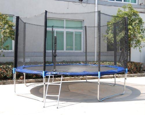 XXL cama elástica trampolín de jardín 4,30 m 430 cm lona Escalera: Amazon.es: Juguetes y juegos