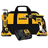 DEWALT DCK263D2 20V MAX XR Li-Ion Cordless Drywall Screwgun and Cut-out Tool Kit by DEWALT