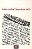 FIRST CUCKOO: LETTERS TO \THE TIMES\, 1900-75