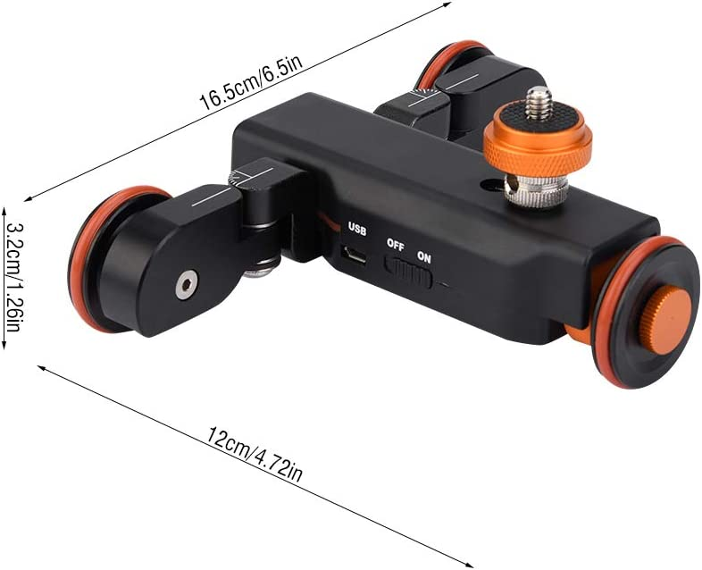 Black Aluminium Alloy Dolly Car VBESTLIFE Mini Motorized Electric Track Slider Motor Dolly Truck Car for DSLR Camera /& Action Camera /& Cellphone