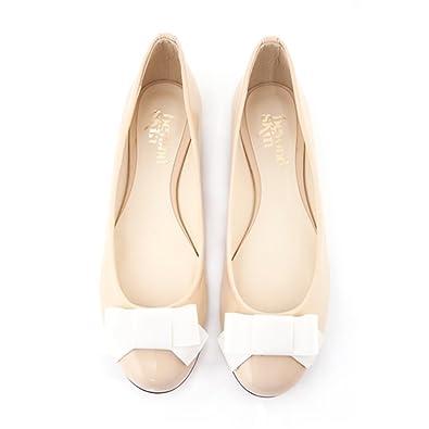 338a345d216 Beyond Skin Vegan Shoes Bessy Cream Flat Shoes Cream 40  Amazon.co ...